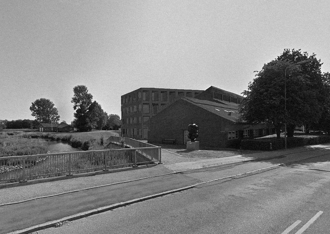 Billede af rådhusets vestlige hjørne